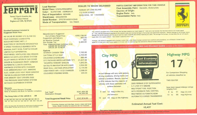 Used 2005 Ferrari Superamerica  For Sale In Westport, CT 125_p32