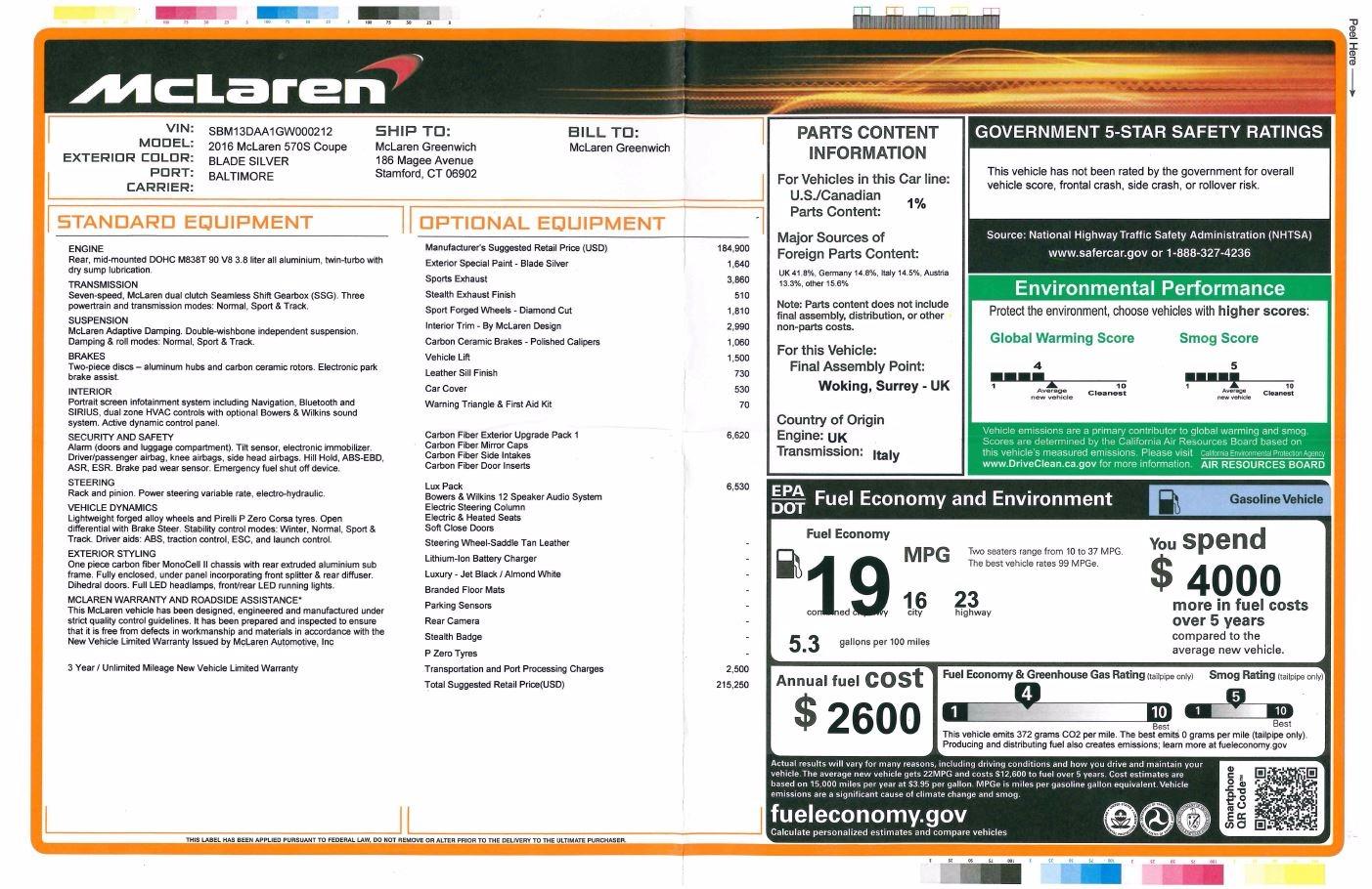 Used 2016 McLaren 570S  For Sale In Westport, CT 1267_p25