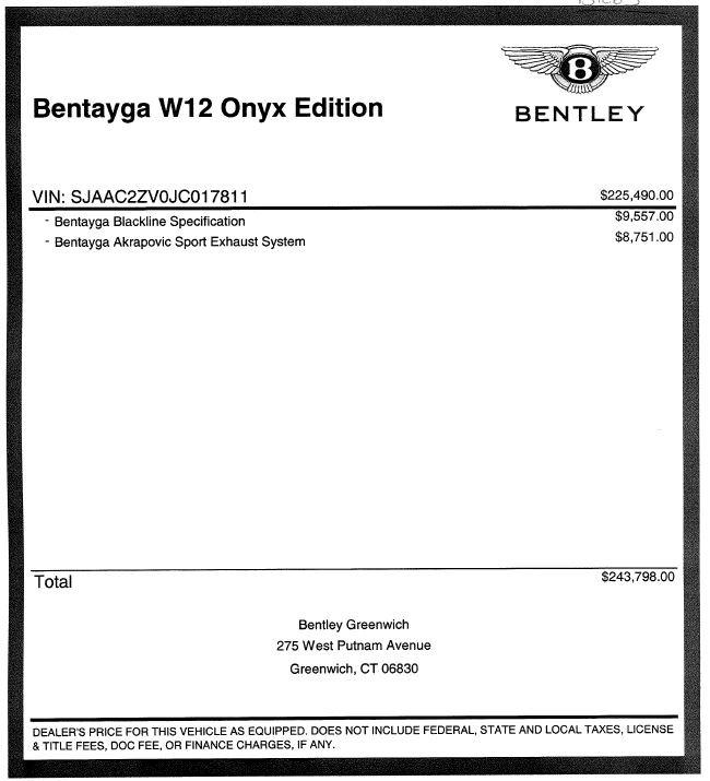 New 2018 Bentley Bentayga Onyx For Sale In Westport, CT 1425_p56