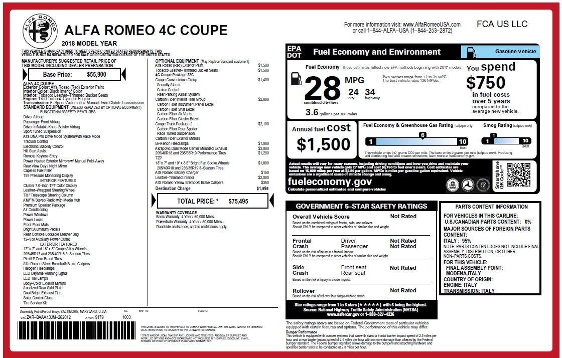 New 2018 Alfa Romeo 4C Coupe For Sale In Westport, CT 1583_p24