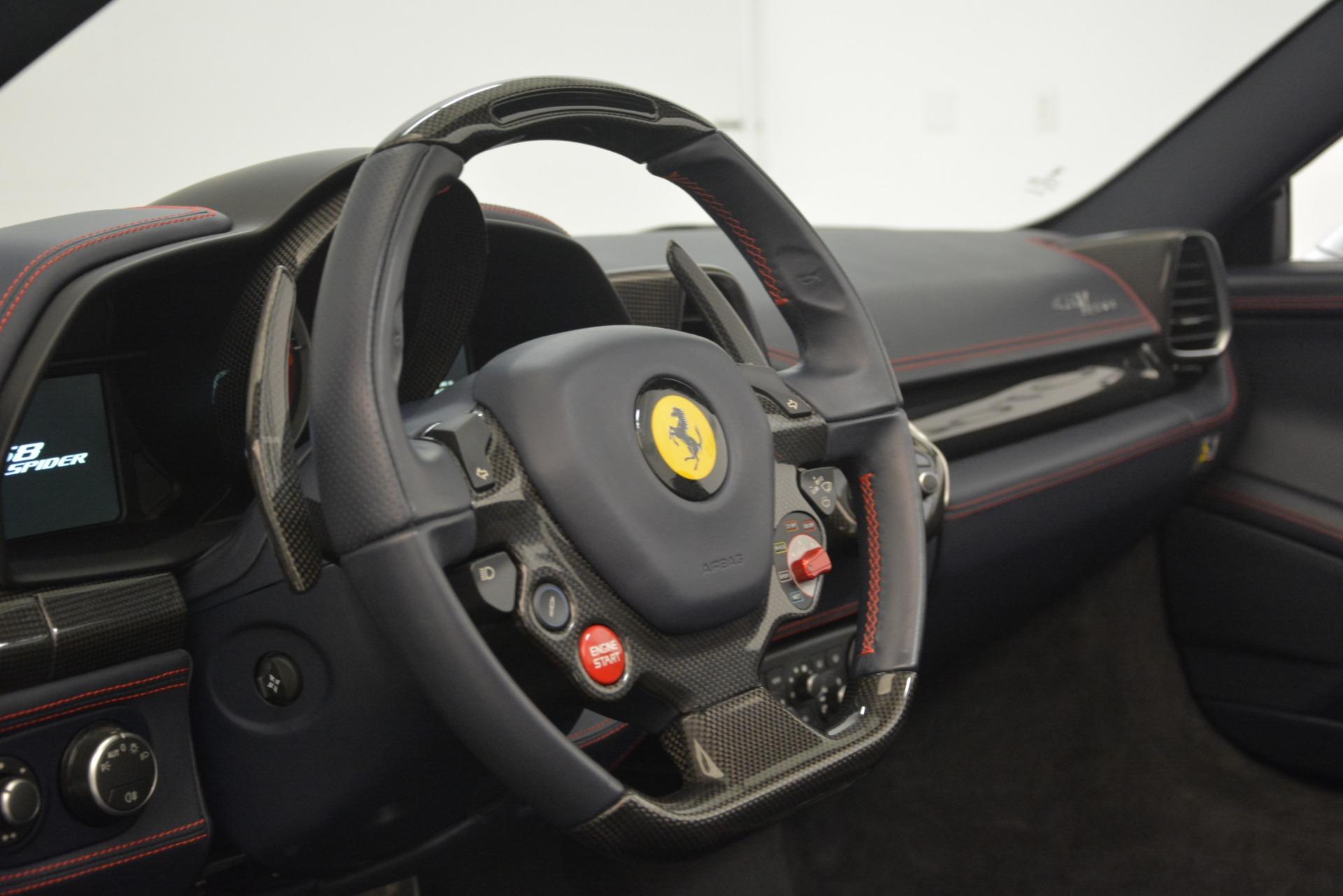 Used 2015 Ferrari 458 Spider  For Sale In Westport, CT 1667_p26