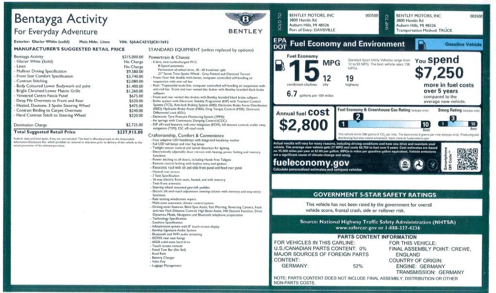 Used 2018 Bentley Bentayga Activity Edition For Sale In Westport, CT 1922_p32