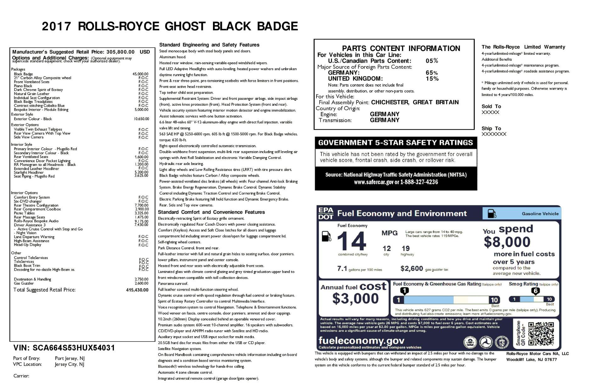 Used 2017 Rolls-Royce Ghost Black Badge For Sale In Westport, CT 1959_p32