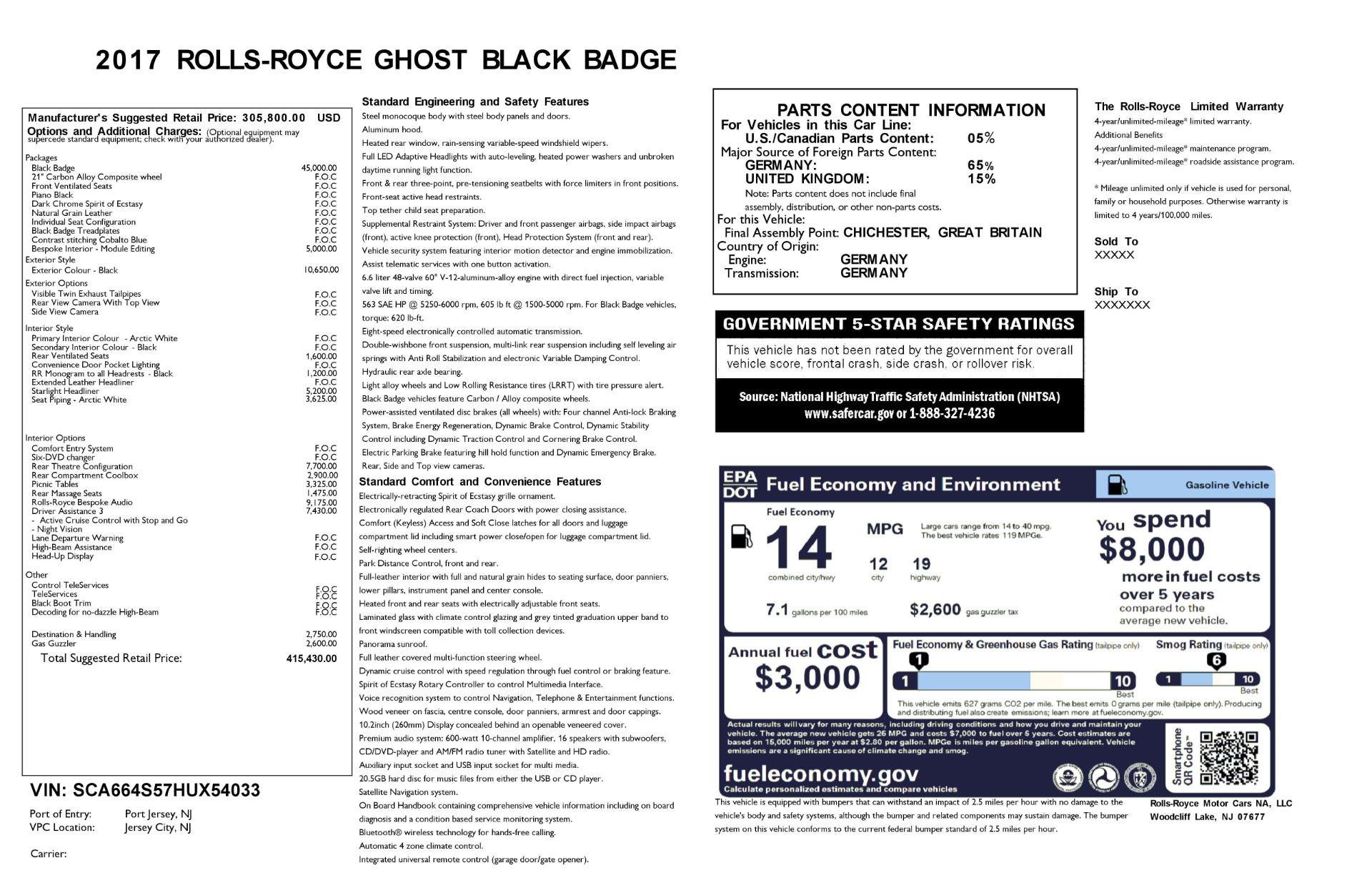 Used 2017 Rolls-Royce Ghost Black Badge For Sale In Westport, CT 2093_p32