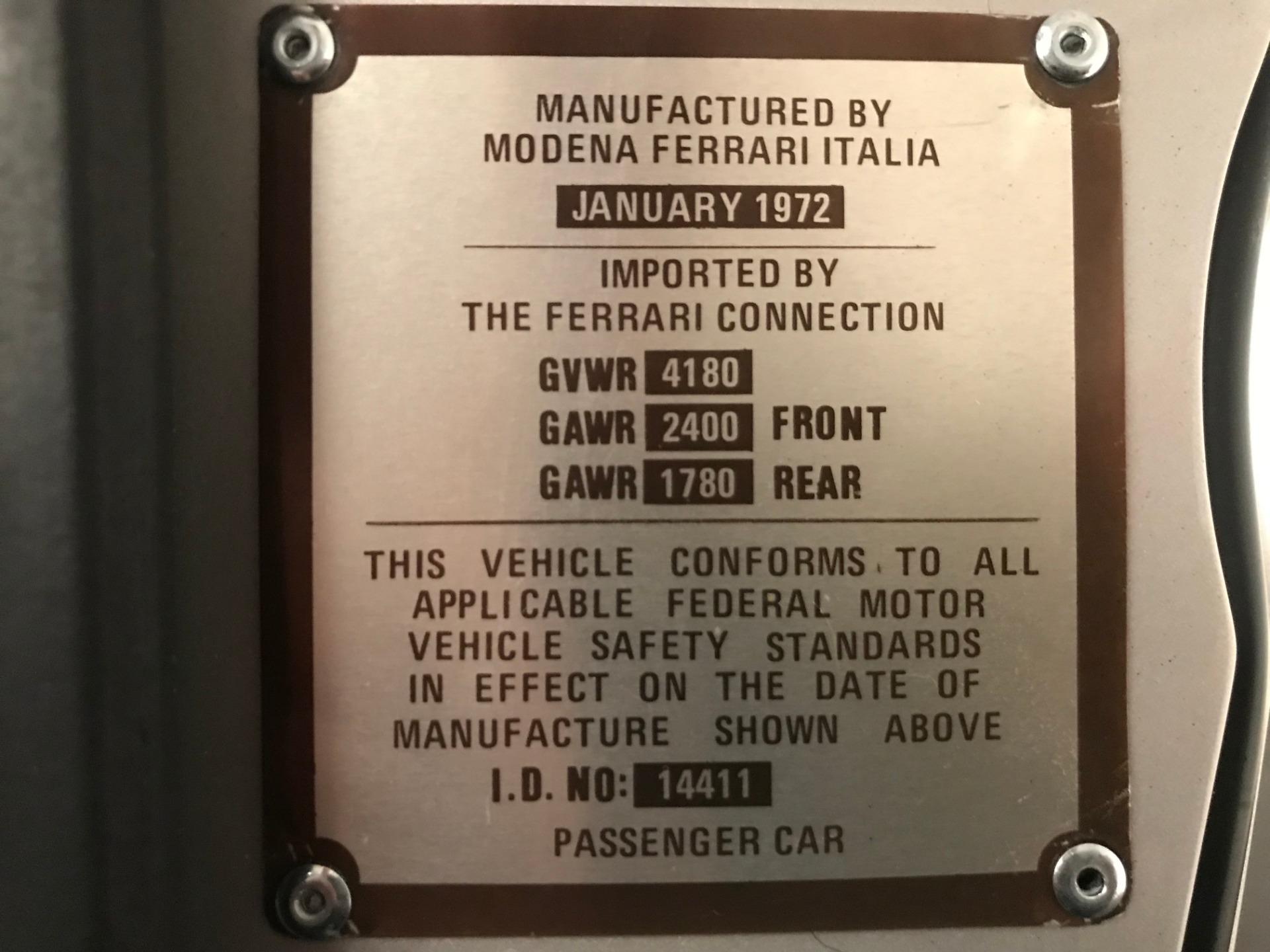 Used 1971 Ferrari 365 GTB/4 Daytona For Sale In Westport, CT 2146_p23