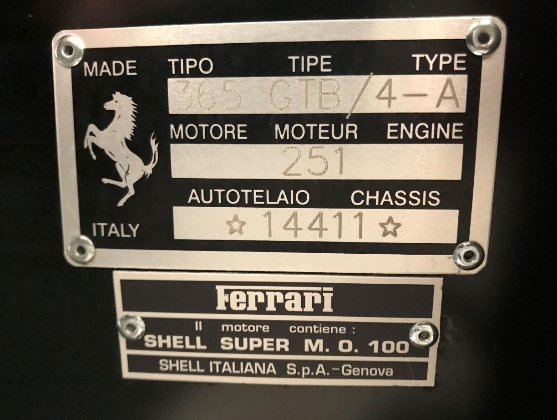 Used 1971 Ferrari 365 GTB/4 Daytona For Sale In Westport, CT 2146_p24