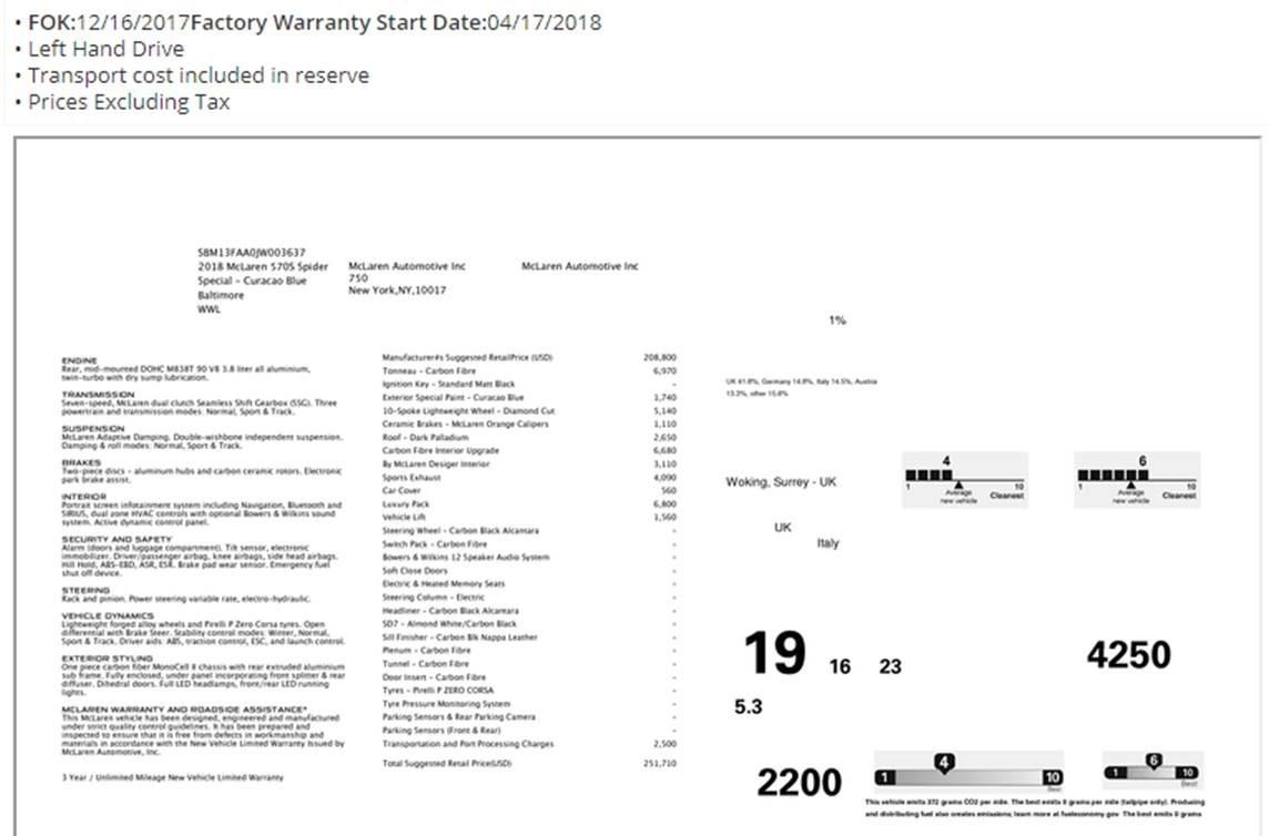 Used 2018 McLaren 570S Spider For Sale In Westport, CT 2215_p27