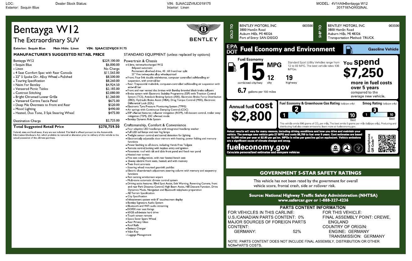 Used 2018 Bentley Bentayga W12 Signature For Sale In Westport, CT 2265_p32