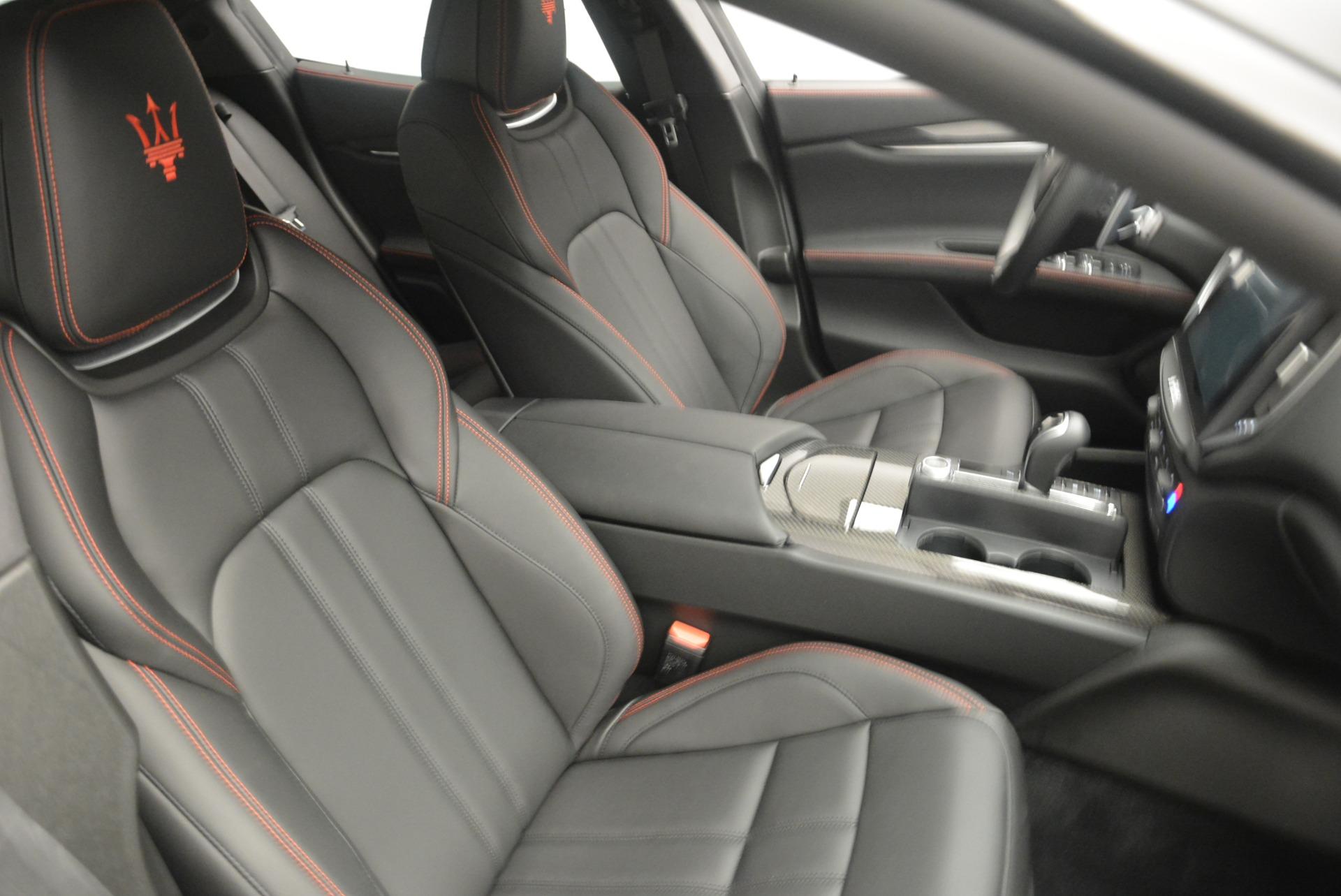 New 2018 Maserati Ghibli SQ4 GranSport Nerissimo For Sale In Westport, CT 2372_p20
