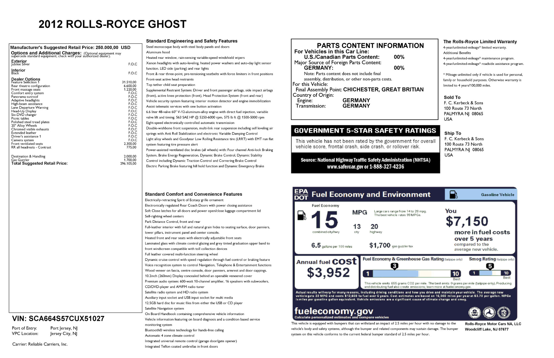 Used 2012 Rolls-Royce Ghost  For Sale In Westport, CT 2447_p29