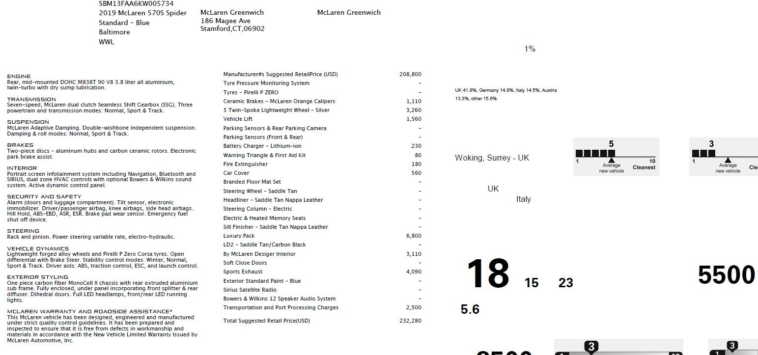 New 2019 McLaren 570S Spider Convertible For Sale In Westport, CT 2521_p28