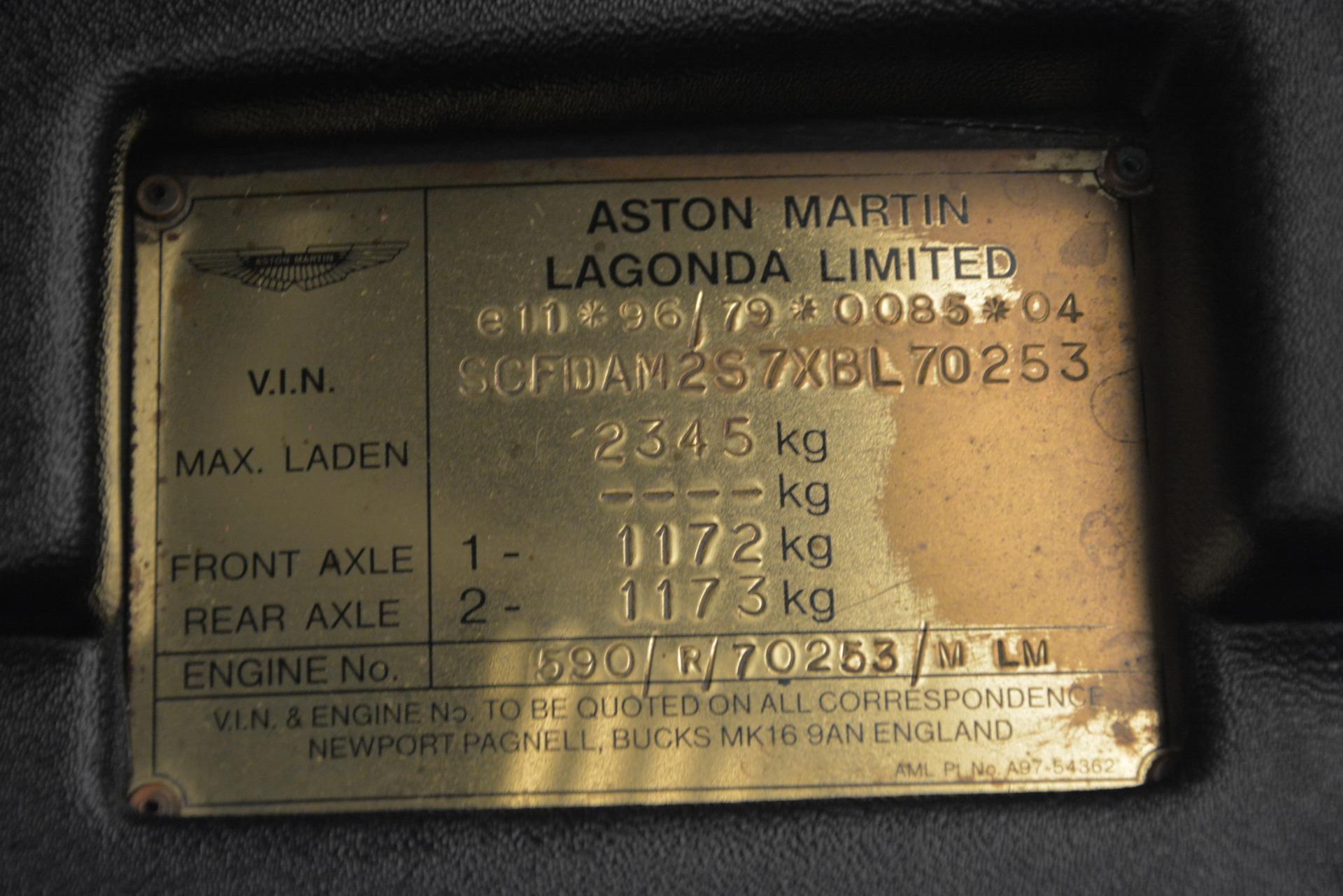 Used 1999 Aston Martin V8 Vantage Le Mans V600  For Sale In Westport, CT 2789_p36