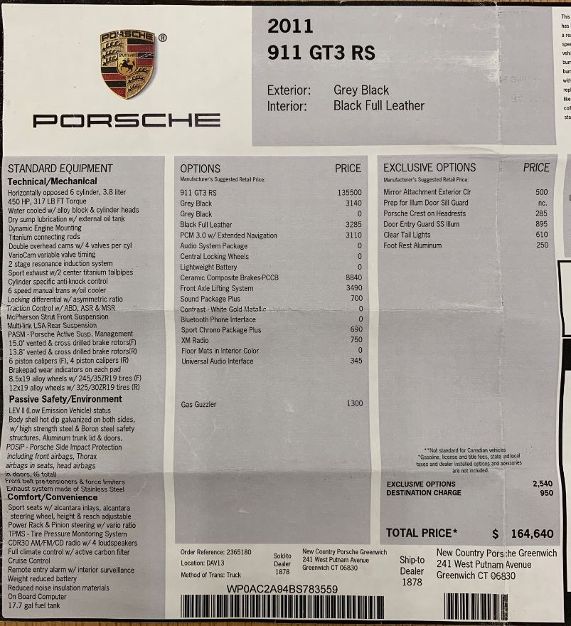 Used 2011 Porsche 911 GT3 RS For Sale In Westport, CT 3012_p22