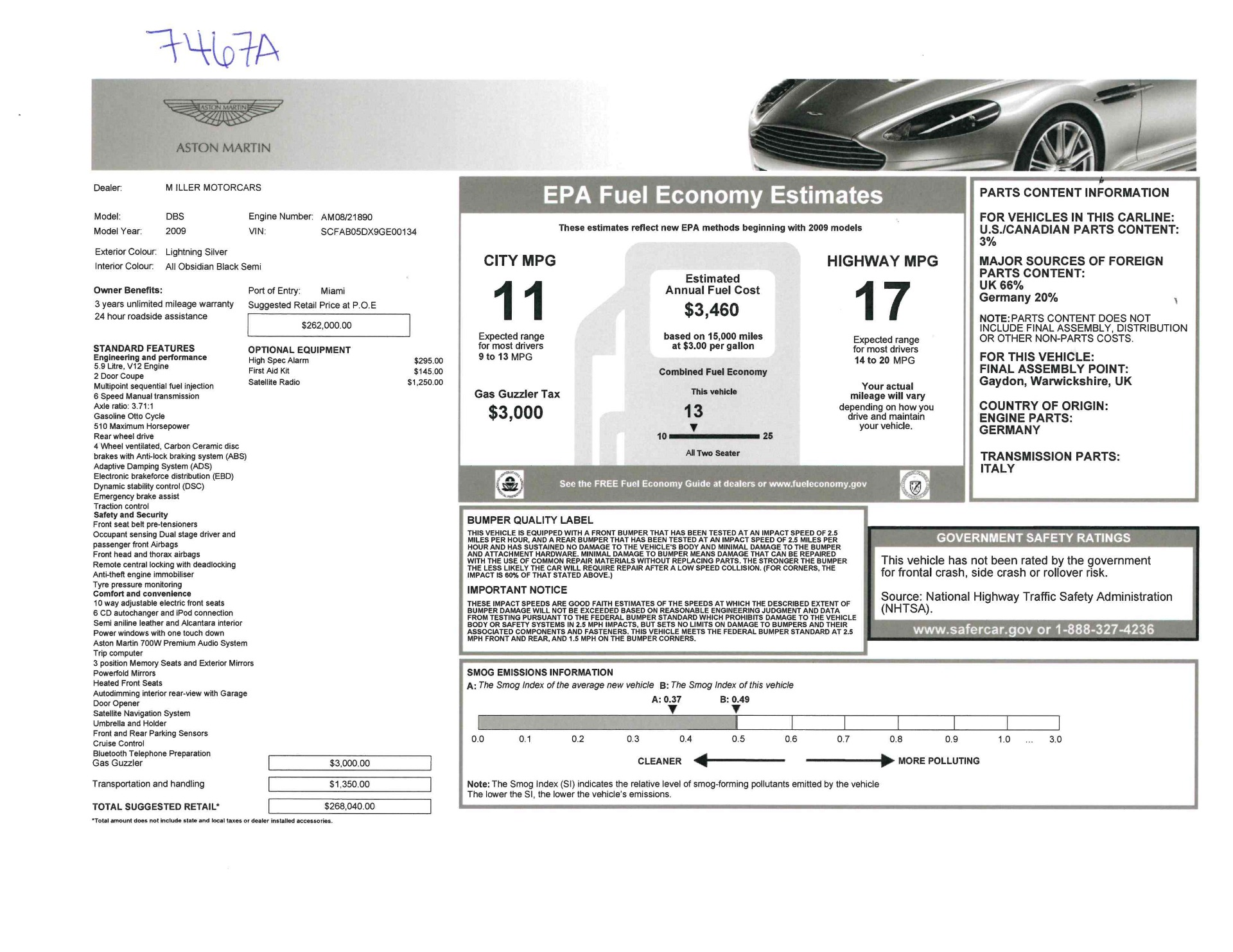 Used 2009 Aston Martin DBS  For Sale In Westport, CT 3033_p26