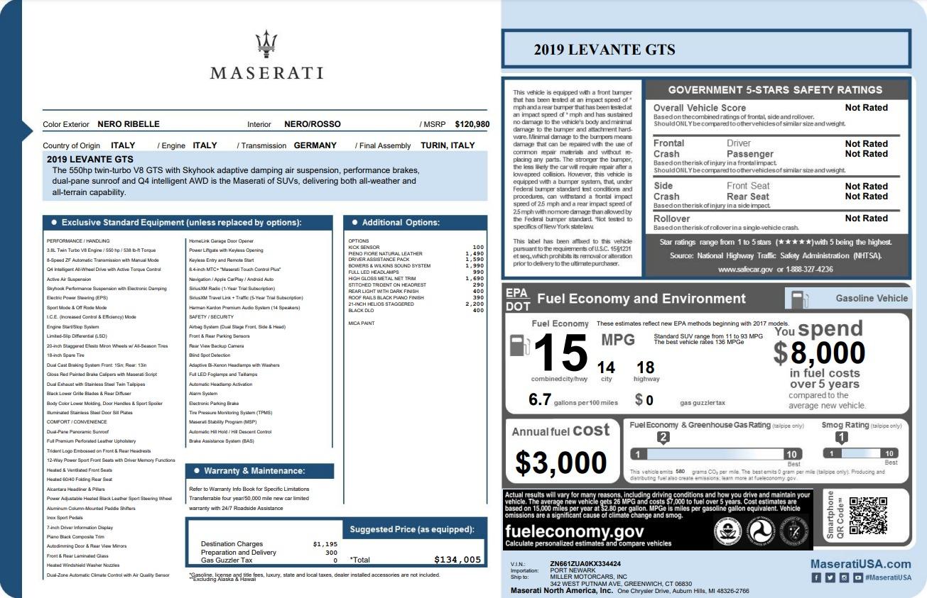 New 2019 Maserati Levante GTS For Sale In Westport, CT 3140_p22