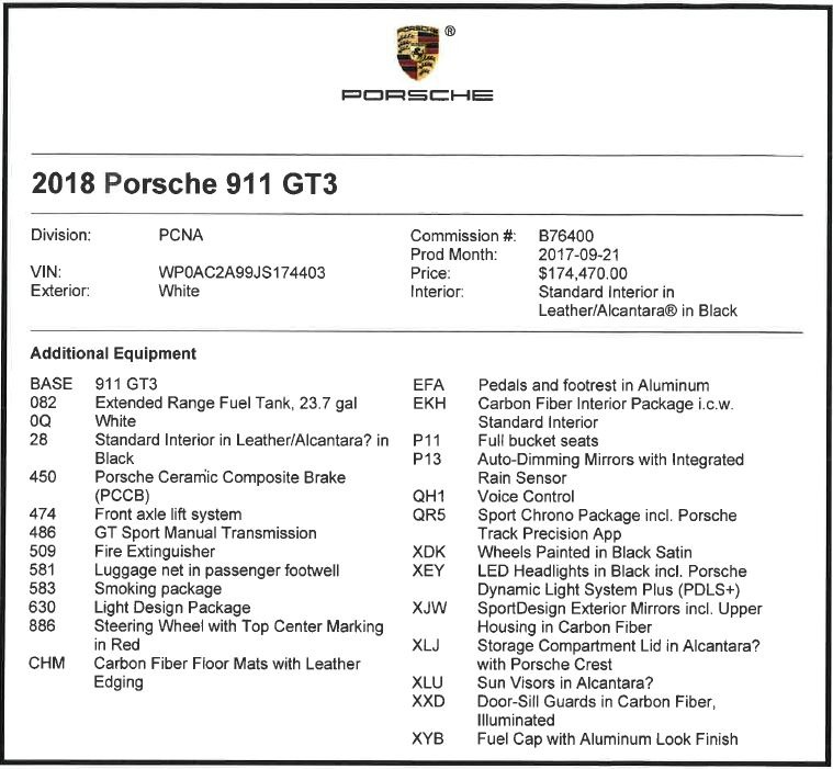 Used 2018 Porsche 911 GT3 For Sale In Westport, CT 3176_p20