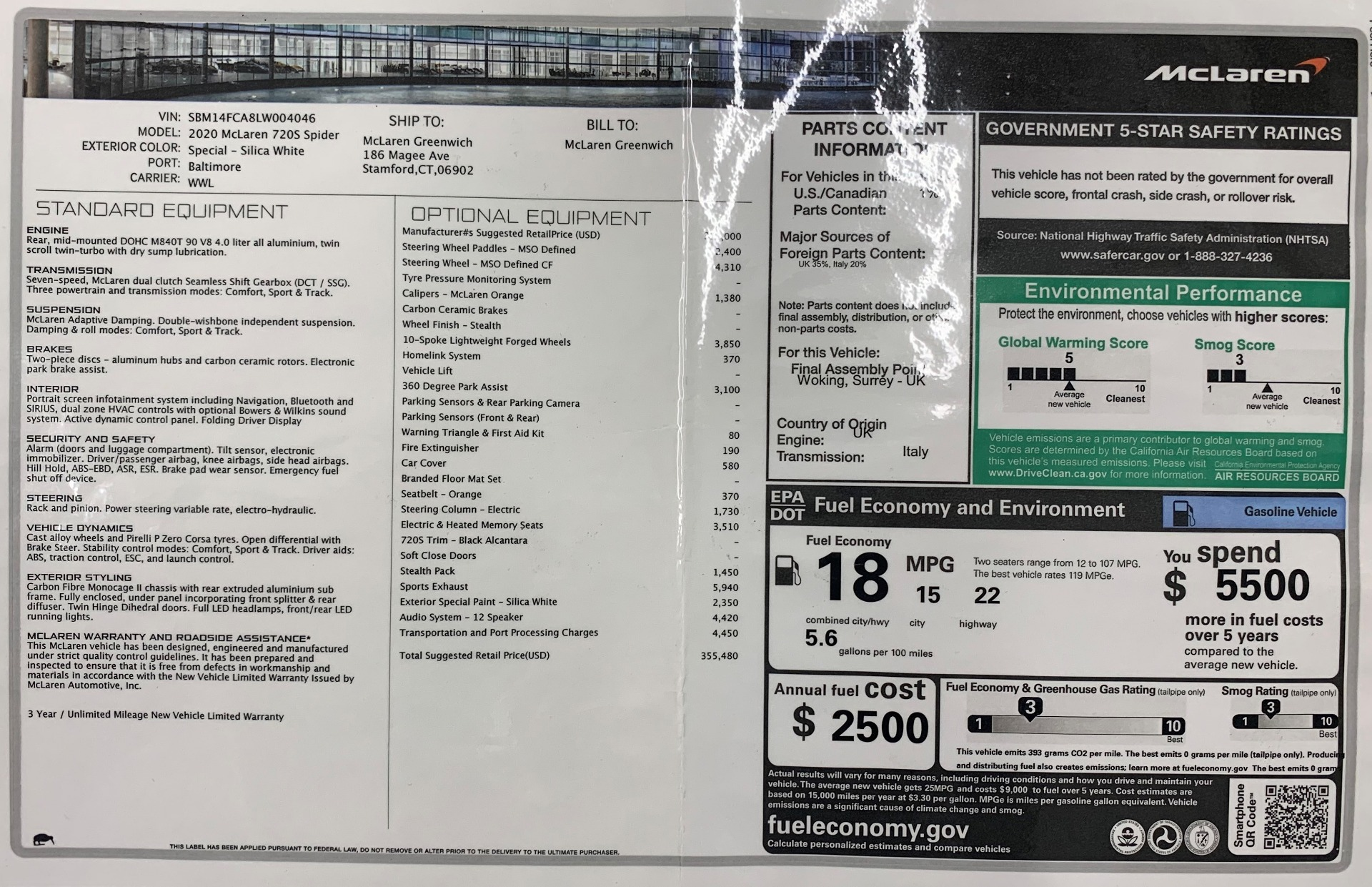 New 2020 McLaren 720S Spider Convertible For Sale In Westport, CT 3229_p31