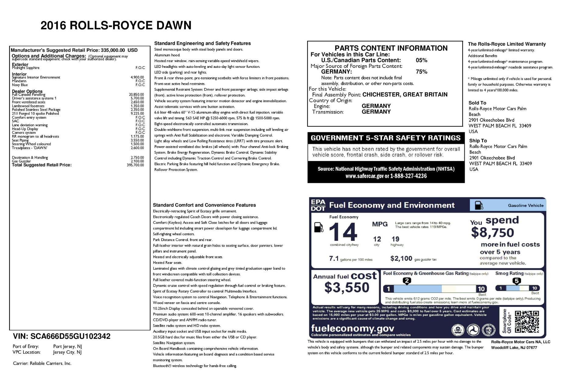 Used 2016 Rolls-Royce Dawn  For Sale In Westport, CT 3299_p32