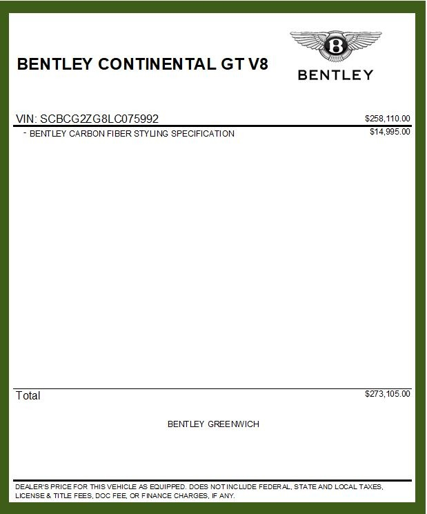 New 2020 Bentley Continental GT V8 For Sale In Westport, CT 3590_p37