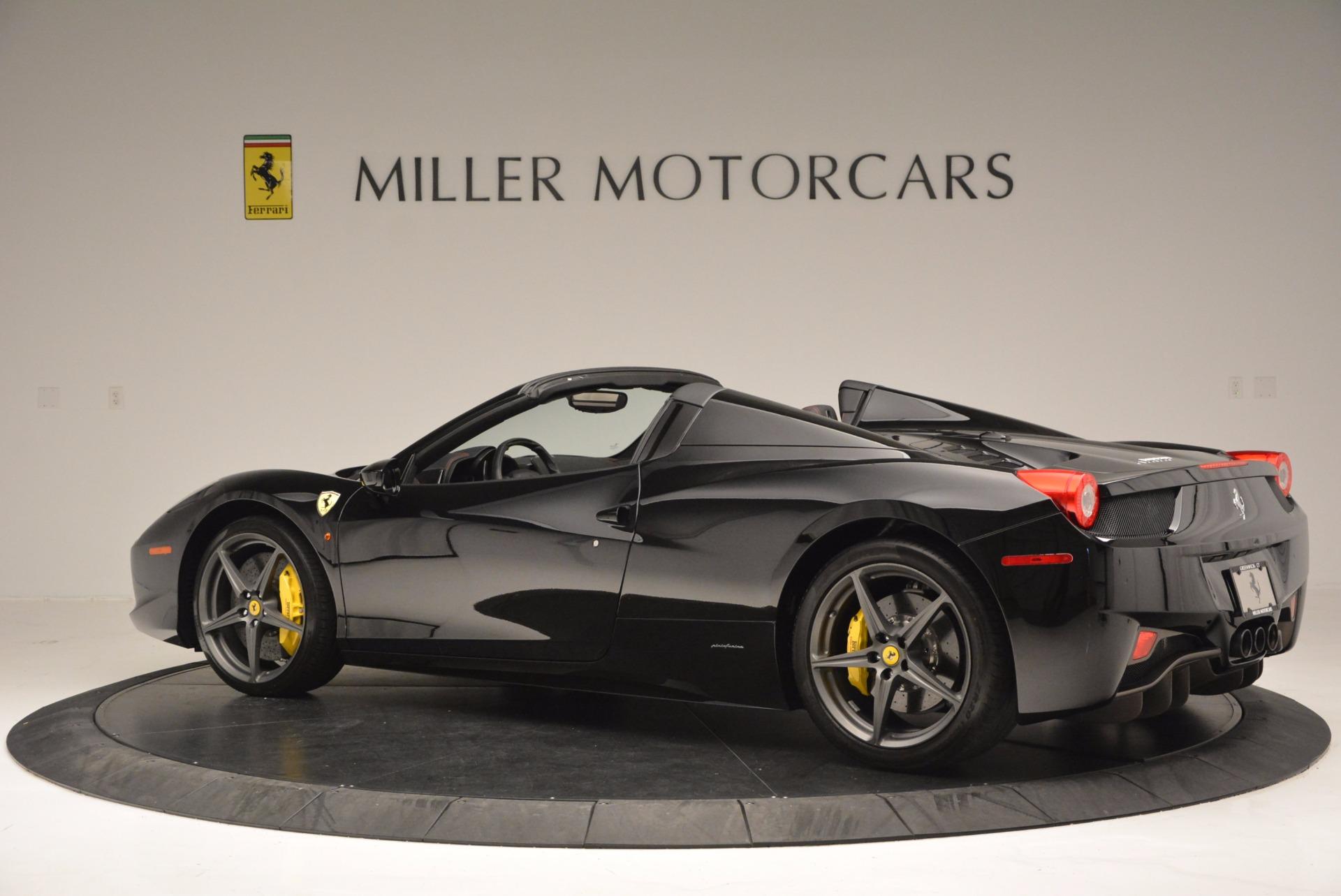 Used 2014 Ferrari 458 Spider  For Sale In Westport, CT 620_p4