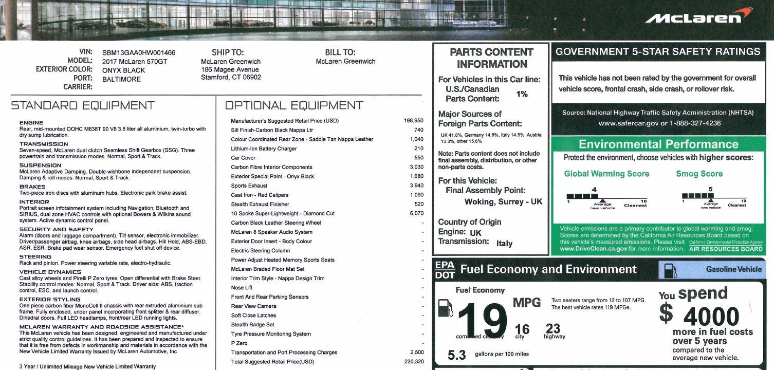 Used 2017 McLaren 570GT  For Sale In Westport, CT 836_p24