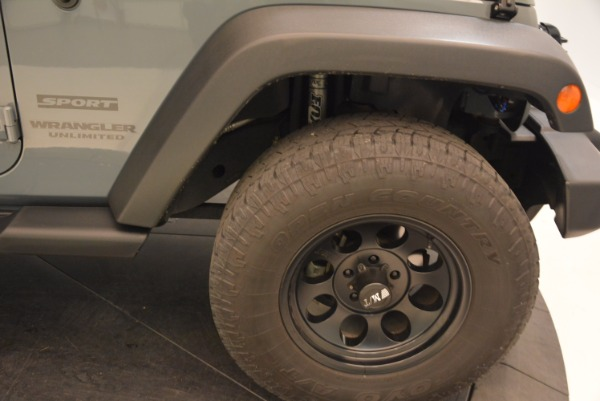Used 2014 Jeep Wrangler Unlimited Sport for sale Sold at Maserati of Westport in Westport CT 06880 26