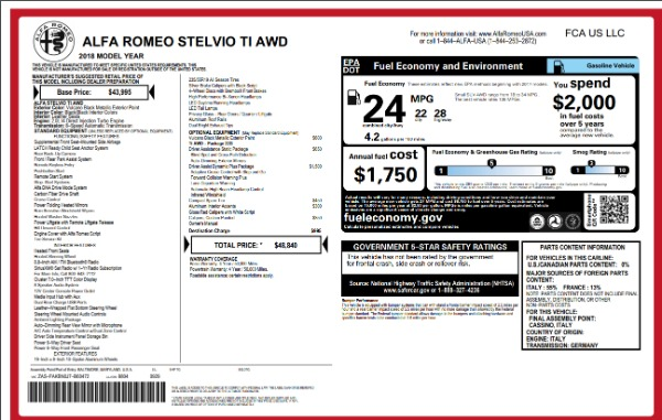 Used 2018 Alfa Romeo Stelvio Ti Q4 for sale Sold at Maserati of Westport in Westport CT 06880 26