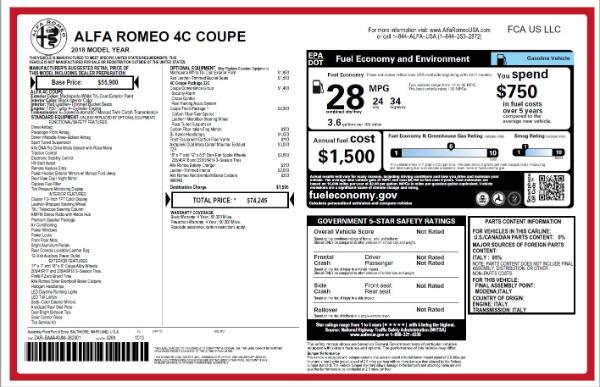New 2018 Alfa Romeo 4C Coupe for sale Sold at Maserati of Westport in Westport CT 06880 26