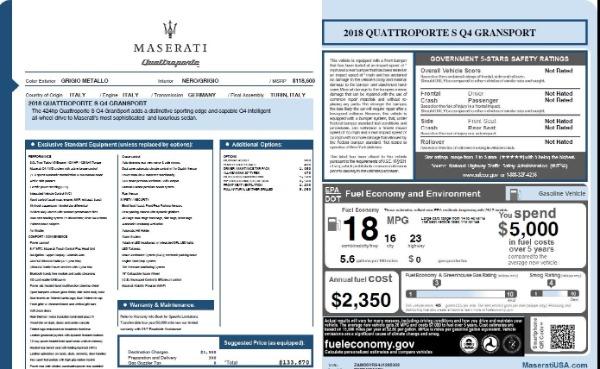 Used 2018 Maserati Quattroporte S Q4 Gransport for sale $69,900 at Maserati of Westport in Westport CT 06880 26