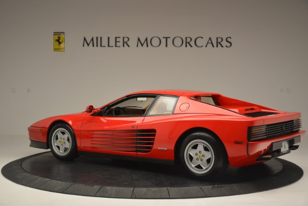 Used 1990 Ferrari Testarossa for sale Sold at Maserati of Westport in Westport CT 06880 4