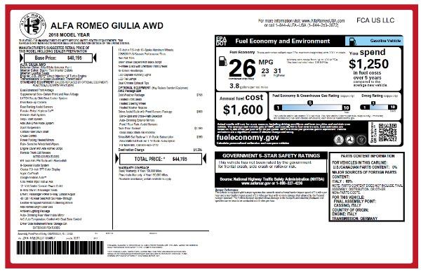 New 2018 Alfa Romeo Giulia Q4 for sale Sold at Maserati of Westport in Westport CT 06880 26