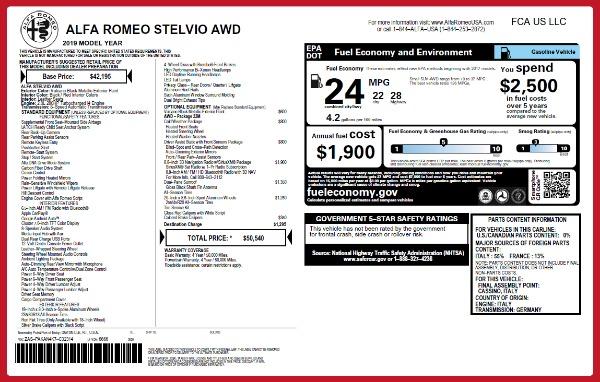 New 2019 Alfa Romeo Stelvio Q4 for sale Sold at Maserati of Westport in Westport CT 06880 2