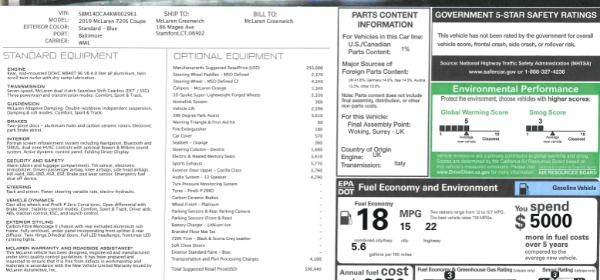 New 2019 McLaren 720S Coupe for sale $336,440 at Maserati of Westport in Westport CT 06880 23