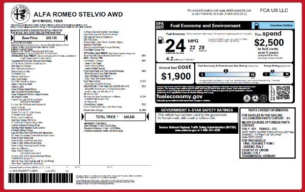 New 2019 Alfa Romeo Stelvio Q4 for sale Sold at Maserati of Westport in Westport CT 06880 21