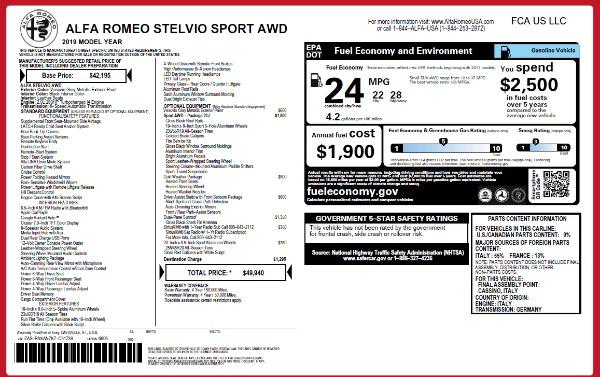 Used 2019 Alfa Romeo Stelvio Sport Q4 for sale Sold at Maserati of Westport in Westport CT 06880 15