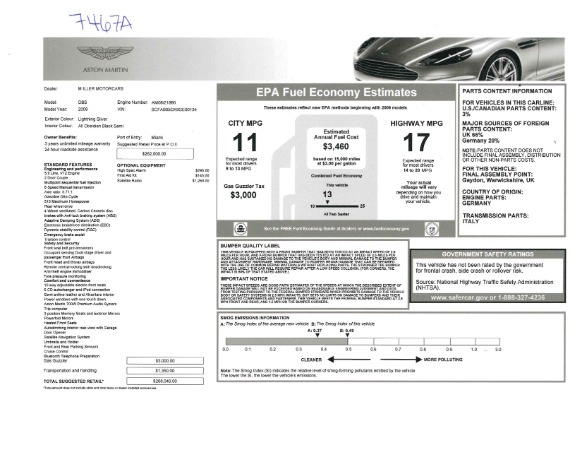 Used 2009 Aston Martin DBS Coupe for sale Sold at Maserati of Westport in Westport CT 06880 26