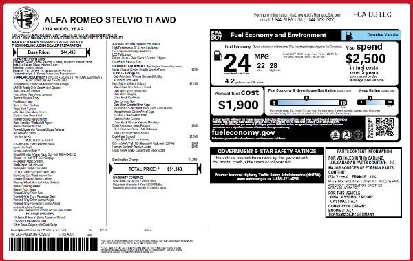 New 2019 Alfa Romeo Stelvio Ti Q4 for sale Sold at Maserati of Westport in Westport CT 06880 2