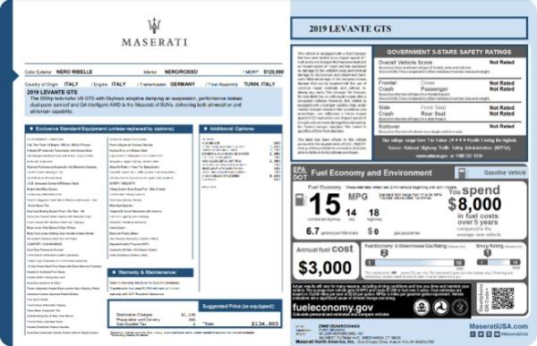 New 2019 Maserati Levante GTS for sale $134,005 at Maserati of Westport in Westport CT 06880 22