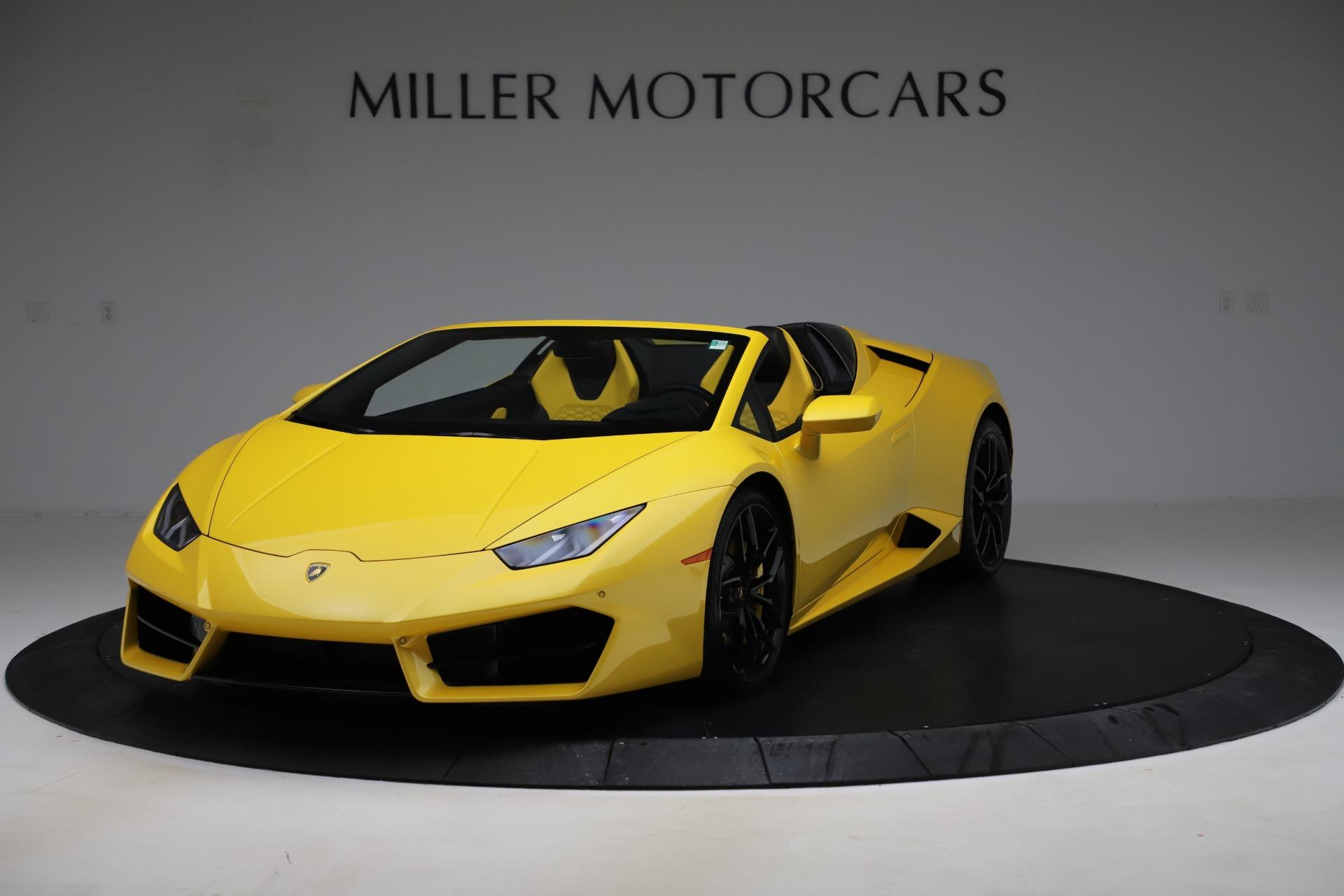 Used 2018 Lamborghini Huracan LP 580-2 Spyder for sale $203,900 at Maserati of Westport in Westport CT 06880 1