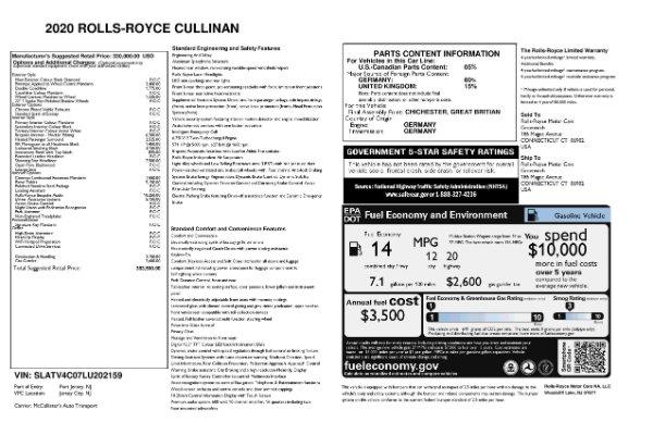 New 2020 Rolls-Royce Cullinan for sale $383,500 at Maserati of Westport in Westport CT 06880 11