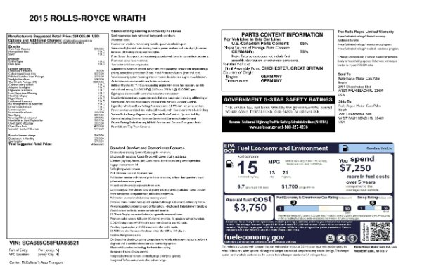 Used 2015 Rolls-Royce Wraith for sale $169,900 at Maserati of Westport in Westport CT 06880 28