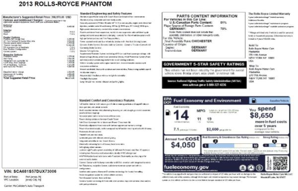 Used 2013 Rolls-Royce Phantom for sale Sold at Maserati of Westport in Westport CT 06880 24