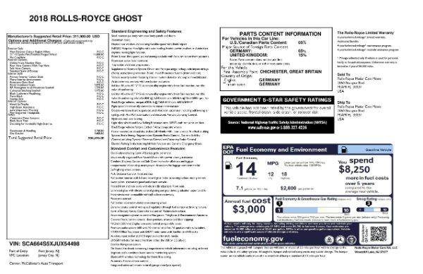 Used 2018 Rolls-Royce Ghost for sale $247,900 at Maserati of Westport in Westport CT 06880 23