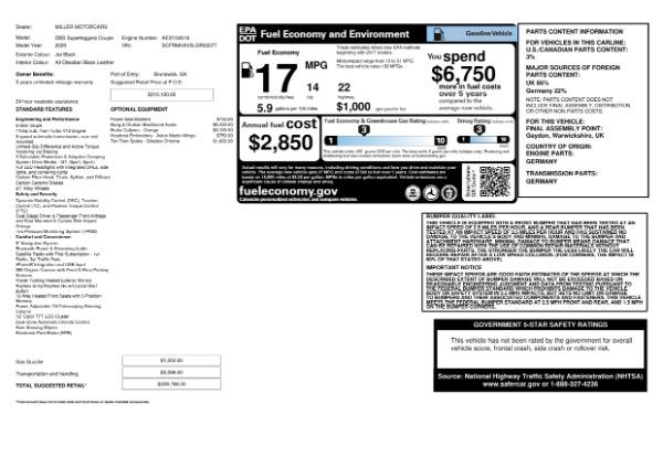 New 2020 Aston Martin DBS Superleggera Coupe for sale $328,786 at Maserati of Westport in Westport CT 06880 23