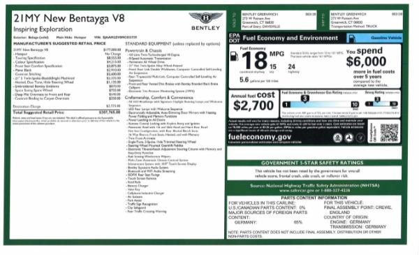New 2021 Bentley Bentayga V8 for sale Sold at Maserati of Westport in Westport CT 06880 10