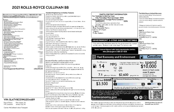 New 2021 Rolls-Royce Cullinan Black Badge for sale $433,225 at Maserati of Westport in Westport CT 06880 9