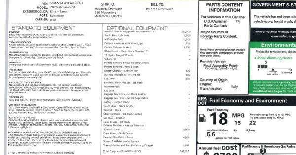 New 2020 McLaren GT Luxe for sale $247,125 at Maserati of Westport in Westport CT 06880 22