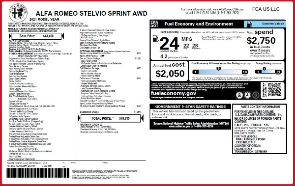 New 2021 Alfa Romeo Stelvio Q4 for sale $48,835 at Maserati of Westport in Westport CT 06880 28