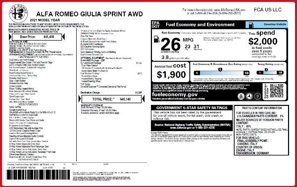 New 2021 Alfa Romeo Giulia Q4 for sale Call for price at Maserati of Westport in Westport CT 06880 28