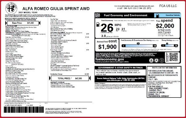 New 2021 Alfa Romeo Giulia Q4 for sale Sold at Maserati of Westport in Westport CT 06880 28